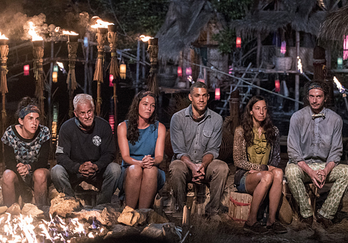 The Brains tribe at Tribal Council.