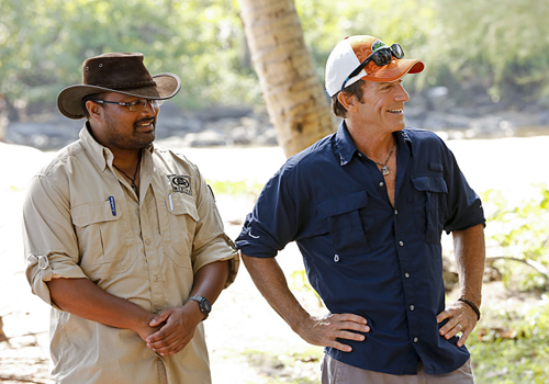 Jeff Probst visits camp on Episode 7 of Survivor: Kaoh Rong.