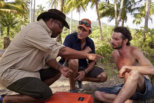 """It's Merge Time"" -- Jeff Probst and the Medical Team assess Neal Gottlieb's condition during the seventh episode of SURVIVOR KAOH: RONG -- Brains vs. Brawn vs. Beauty. The show airs, Wednesday, March 30 (8:00-9:00 PM, ET/PT) on the CBS Television Network. Photo: Robert Voets /CBS Entertainment ©2016 CBS Broadcasting, Inc. All Rights. Reserved."