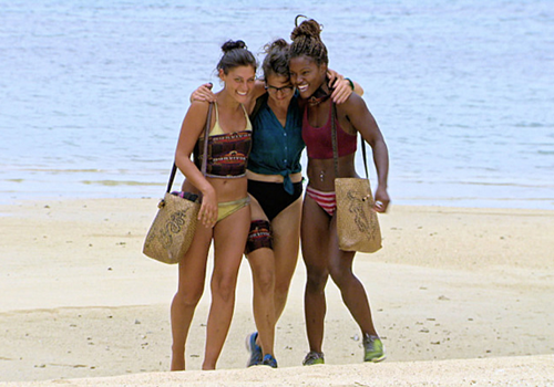 Aubry Bracco, Cydney Gillon and Michele Fitzgerald in Episode 11 of Survivor: Kaoh Rong.
