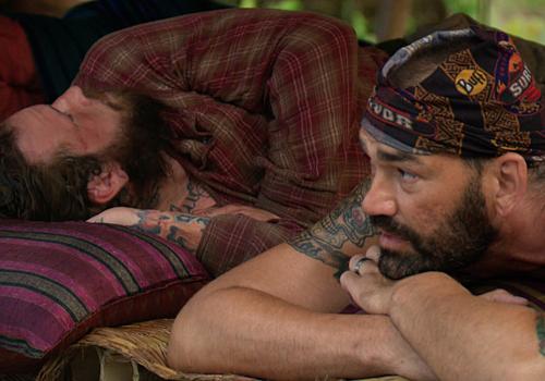 Kyle Jason and Scot Pollard on Episode 9 of Survivor: Kaoh Rong.