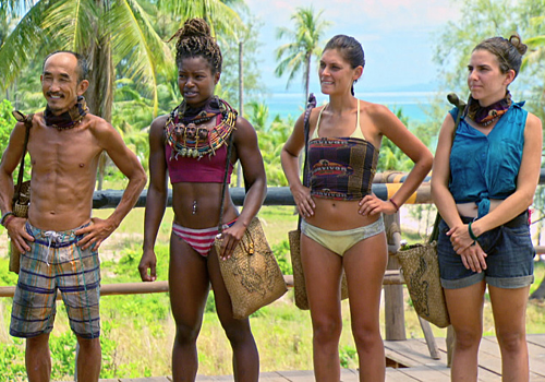 Aubry Bracco, Cydney Gillon, Michele Fitzgerald and Tai Trang. The final four of Survivor: Kaoh Rong.
