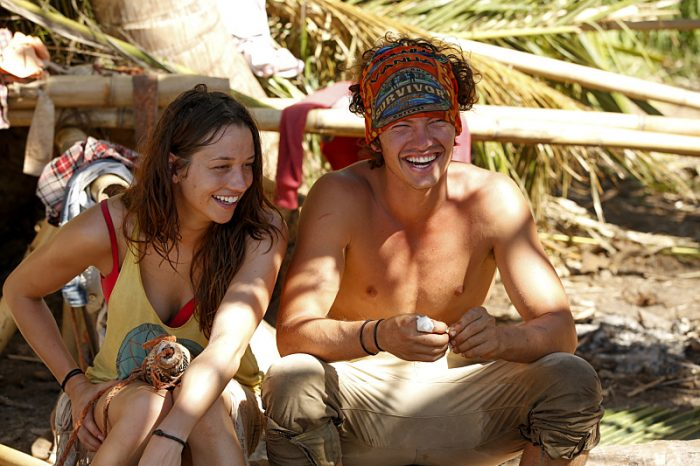 Michelle Schubert and Justin Starrett on the second episode of SURVIVOR: Millennials vs. Gen. X, airing Wednesday, Sept. 28 (8:00-9:00 PM, ET/PT) on the CBS Television Network. Photo: Robert Voets/CBS Entertainment ©2016 CBS Broadcasting, Inc. All Rights Reserved.