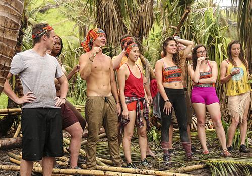 The Millennials tribe on Episode 1 of Survivor: Millennials vs. Gen X. Photo: CBS.