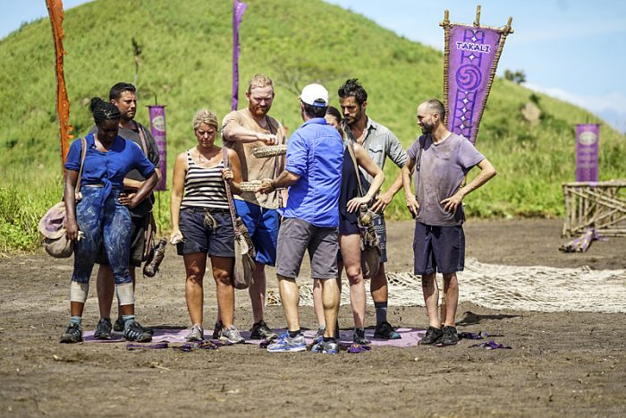 """""""Idol Search Party"""" - Ciandre Taylor, Bret LaBelle, Sunday Burquest, Chris Hammons, Jeff Probst, Jessica Lewis, Ken McNickle and David Wright on the fifth episode of SURVIVOR: Millennials vs. Gen. X, airing Wednesday, Oct. 19 (8:00-9:00 PM, ET/PT) on the CBS Television Network. Photo: Monty Brinton/CBS Entertainment ©2016 CBS Broadcasting, Inc. All Rights Reserved."""
