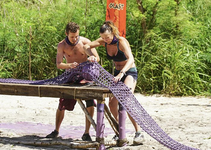 """I Will Destroy You"" - Adam Klein and Jessica Lewis compete on the seventh episode of SURVIVOR: Millennials vs. Gen. X, airing Wednesday, Nov. 2 (8:00-9:00 PM, ET/PT) on the CBS Television Network. Photo: Monty Brinton/CBS Entertainment ©2016 CBS Broadcasting, Inc. All Rights Reserved."