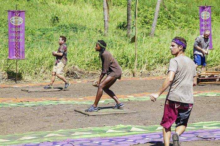 """I Will Destroy You"" - Ezekiel/Zeke Smith, Michaela Bradshaw and Adam Klein compete on the seventh episode of SURVIVOR: Millennials vs. Gen. X, airing Wednesday, Nov. 2 (8:00-9:00 PM, ET/PT) on the CBS Television Network. Photo: Monty Brinton/CBS Entertainment ©2016 CBS Broadcasting, Inc. All Rights Reserved."