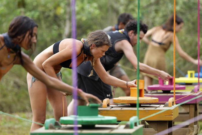 NIGEL WRIGHT PHOTOGRAPHER. +61(0) 409 363 339. MAY/ JULY 2016 COPYRIGHT: ENDEMOLSHINE AUSTRALIA AND NETWORK TEN, AUSTRALIA AUSTRALIAN SURVIVOR S1. 2016 THIS EXCLUSIVE PICTURE SHOWS: EP 21. CHALLENGE, BACK SPLASH, BED IN CAMP REWARD, AND CHALLENGE, HOUSE OF CARDS, POST CHALLENGE CAMP AND TRIBAL COUNCIL...BROOKE VOTED OUT