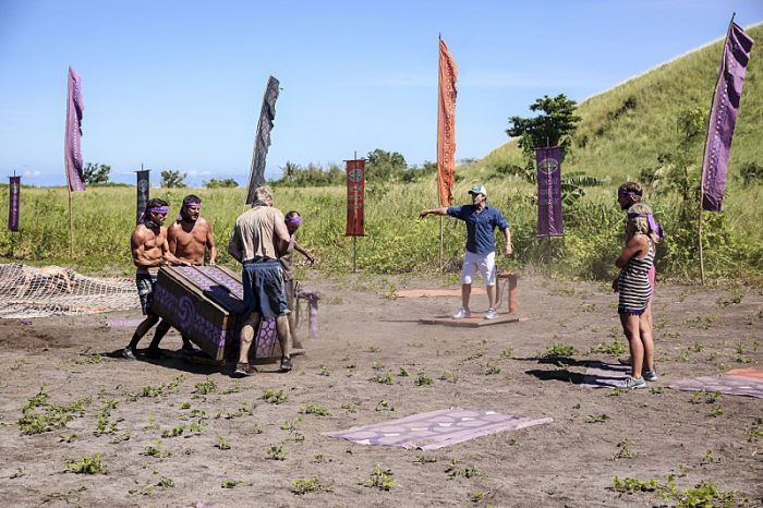 """Still Throwin' Punches"" - Ken McNickle, Bret LaBelle, Chris Hammons, David Wright, Jeff Probst, Taylor Stocker and Sunday Burquest on the ninth episode of SURVIVOR: Millennials vs. Gen. X, airing Wednesday, Nov. 16 (8:00-9:00 PM, ET/PT) on the CBS Television Network. Photo: Monty Brinton/CBS Entertainment ©2016 CBS Broadcasting, Inc. All Rights Reserved."