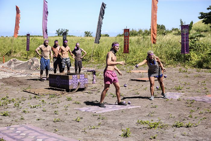 """""""Still Throwin' Punches"""" - Chris Hammons, Bret LaBelle, Ken McNickle, David Wright, Taylor Stocker and Sunday Burquest compete on the ninth episode of SURVIVOR: Millennials vs. Gen. X, airing Wednesday, Nov. 16 (8:00-9:00 PM, ET/PT) on the CBS Television Network. Photo: Monty Brinton/CBS Entertainment ©2016 CBS Broadcasting, Inc. All Rights Reserved."""