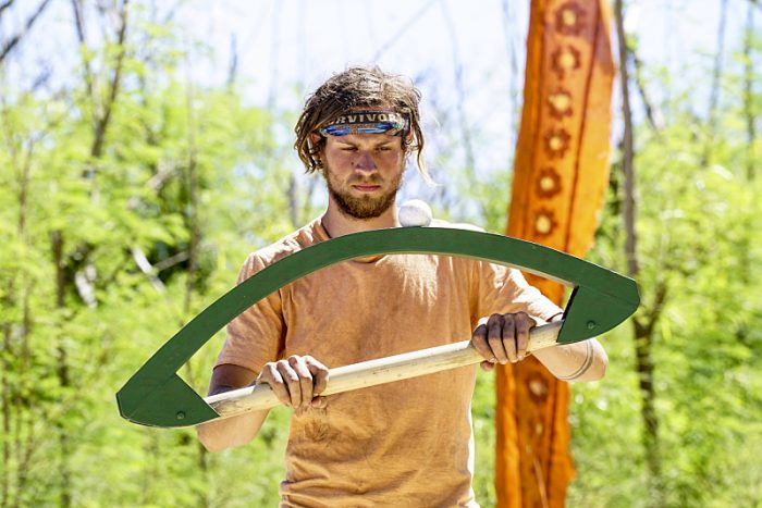 """""""Still Throwin' Punches"""" - Taylor Stocker on the ninth episode of SURVIVOR: Millennials vs. Gen. X, airing Wednesday, Nov. 16 (8:00-9:00 PM, ET/PT) on the CBS Television Network. Photo: Monty Brinton/CBS Entertainment ©2016 CBS Broadcasting, Inc. All Rights Reserved."""