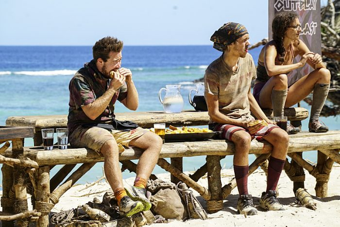 """""""Still Throwin' Punches"""" - Ezekiel/Zeke Smith, Will Wahl and Hannah Shapiro on the ninth episode of SURVIVOR: Millennials vs. Gen. X, airing Wednesday, Nov. 16 (8:00-9:00 PM, ET/PT) on the CBS Television Network. Photo: Monty Brinton/CBS Entertainment ©2016 CBS Broadcasting, Inc. All Rights Reserved."""