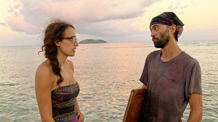 """Million Dollar Gamble"" - Hannah Shapiro and David Wright on SURVIVOR: Millennials vs. Gen. X, on a two-hour SURVIVOR, Wednesday, Nov. 23 (8:00-10:00 PM, ET/PT) on the CBS Television Network.. Photo: Screen Grab/CBS Entertainment ©2016 CBS Broadcasting, Inc. All Rights Reserved."