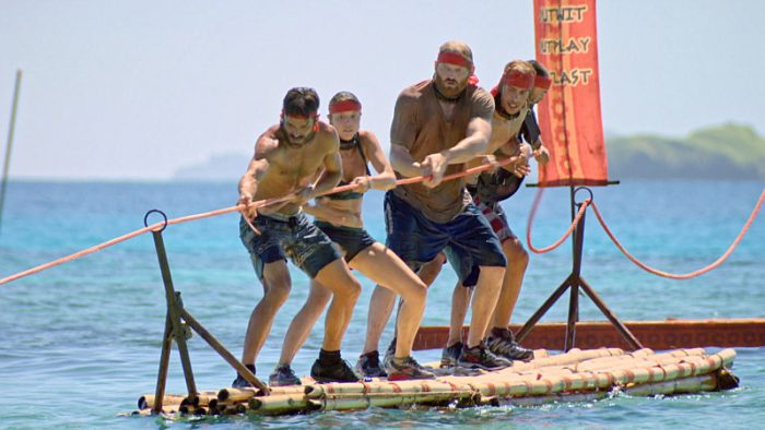 """Million Dollar Gamble"" - Ken McNickle, Jessica Lewis, Chris Hammons, Will Wahl and David Wright on SURVIVOR: Millennials vs. Gen. X, on a two-hour SURVIVOR, Wednesday, Nov. 23 (8:00-10:00 PM, ET/PT) on the CBS Television Network.. Photo: Screen Grab/CBS Entertainment ©2016 CBS Broadcasting, Inc. All Rights Reserved."