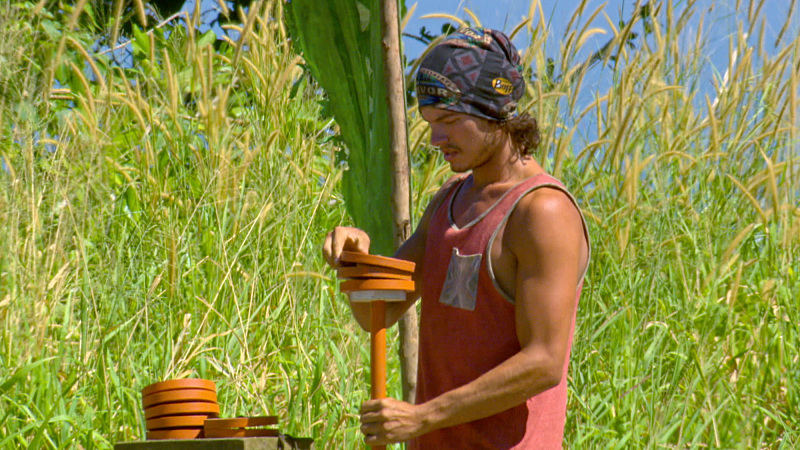 """""""Slayed The Survivor Dragon"""" - Justin Starrett on the thirteenth episode of SURVIVOR: Millennials vs. Gen. X, Wednesday, Dec. 7 (8:00-9:00 PM, ET/PT) on the CBS Television Network. Photo: Screen Grab/CBS Entertainment ©2016 CBS Broadcasting, Inc. All Rights Reserved."""