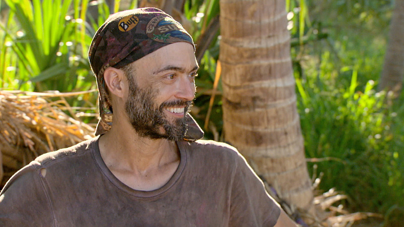 """""""Slayed The Survivor Dragon"""" - David Wright on the thirteenth episode of SURVIVOR: Millennials vs. Gen. X, Wednesday, Dec. 7 (8:00-9:00 PM, ET/PT) on the CBS Television Network. Photo: Screen Grab/CBS Entertainment ©2016 CBS Broadcasting, Inc. All Rights Reserved."""