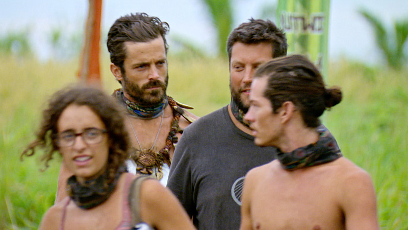 """""""I'm Going For a Million Bucks"""" - Hannah Shapiro, Ken McNickle, Bret LaBelle and Justin Starrett on the Final episode of SURVIVOR: Millennials vs. Gen. X. Steady hands will earn a spot in the final three and a chance at the million dollar prize. Then, after 39 days, one castaway will be crowned Sole Survivor, on the two-hour season finale, followed by the one-hour live reunion show hosted by Emmy Award winner Jeff Probst, on SURVIVOR, Wednesday, Dec. 14 (8:00-11:00 PM, ET/PT) on the CBS Television Network. Photo: Screen Grab/CBS Entertainment ©2016 CBS Broadcasting, Inc. All Rights Reserved."""