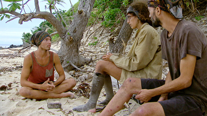 """I'm Going For a Million Bucks"" - Justin Starrett, Hannah Shapiro and David Wright on the Final episode of SURVIVOR: Millennials vs. Gen. X. Steady hands will earn a spot in the final three and a chance at the million dollar prize. Then, after 39 days, one castaway will be crowned Sole Survivor, on the two-hour season finale, followed by the one-hour live reunion show hosted by Emmy Award winner Jeff Probst, on SURVIVOR, Wednesday, Dec. 14 (8:00-11:00 PM, ET/PT) on the CBS Television Network. Photo: Screen Grab/CBS Entertainment ©2016 CBS Broadcasting, Inc. All Rights Reserved."