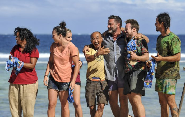 """Vote Early, Vote Often"" - Sandra Diaz-Twine, Sarah Lacina, Tai Trang, Jeff Varner, Zeke Smith and Oscar ""Ozzy"" Lusth on the sixth episode of SURVIVOR: Game Changers, airing Wednesday, April 5 (8:00-9:00 PM, ET/PT) on the CBS Television Network. Photo: Jeffrey Neira/CBS Entertainment ©2017 CBS Broadcasting, Inc. All Rights Reserved."