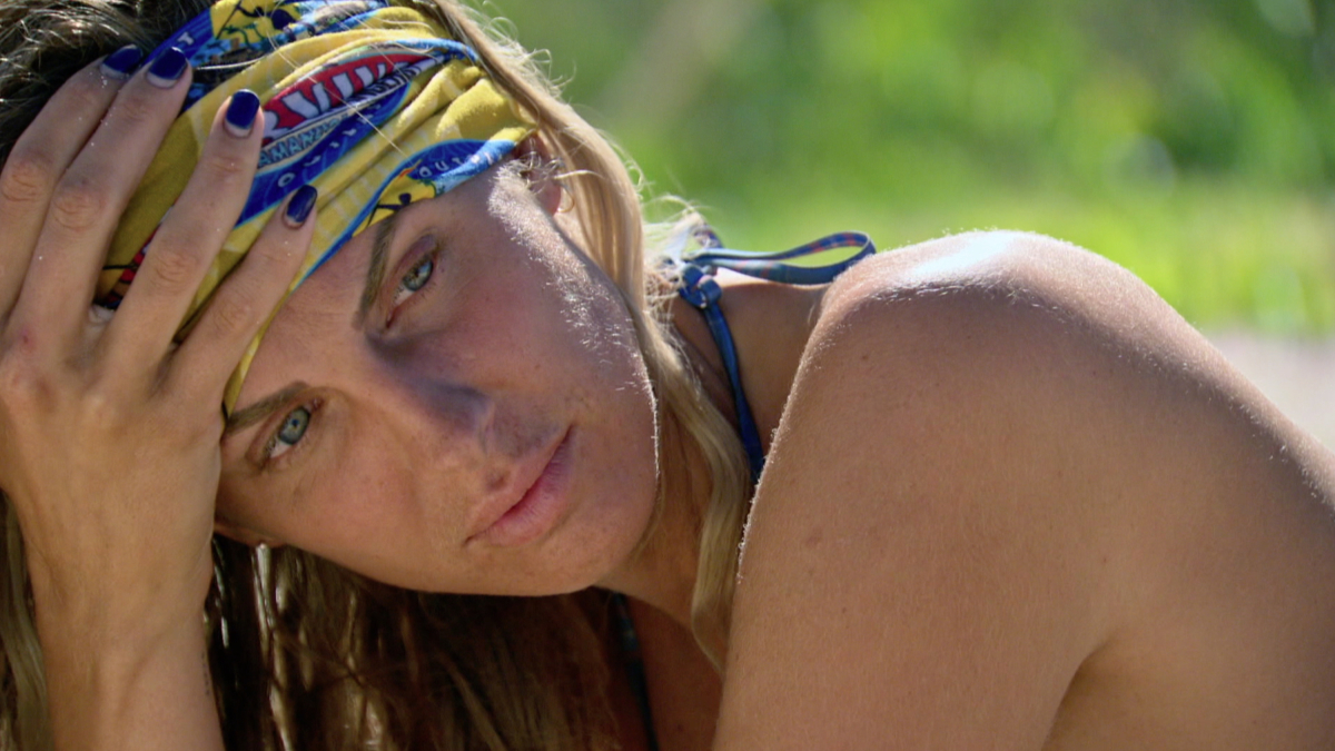 """A Line Drawn in Concrete"" - Sierra Dawn-Thomas on the tenth episode of SURVIVOR: Game Changers, airing Wednesday, April 26 (8:00-9:00 PM, ET/PT) on the CBS Television Network. Photo: Screen Grab/CBS Entertainment ©2017 CBS Broadcasting, Inc. All Rights Reserved."