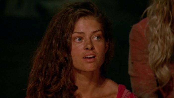 """""""There's A New Sheriff in Town"""" - Hali Ford at Tribal Council on the eighth and ninth episode of SURVIVOR: Game Changers, airing Wednesday, April 19 (8:00-10:00 PM, ET/PT) on the CBS Television Network. Photo: Screen Grab/CBS Entertainment ©2017 CBS Broadcasting, Inc. All Rights Reserved."""