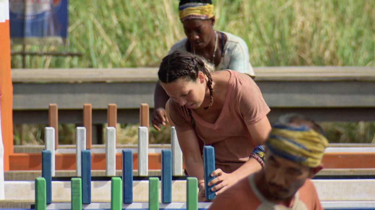 """""""Reinventing How This Game Is Played"""" - Sarah Lacina on the eleventh episode of SURVIVOR: Game Changers, airing Wednesday, May 3 (8:00-9:00 PM, ET/PT) on the CBS Television Network. Photo: Screen Grab/CBS Entertainment ©2017 CBS Broadcasting, Inc. All Rights Reserved."""