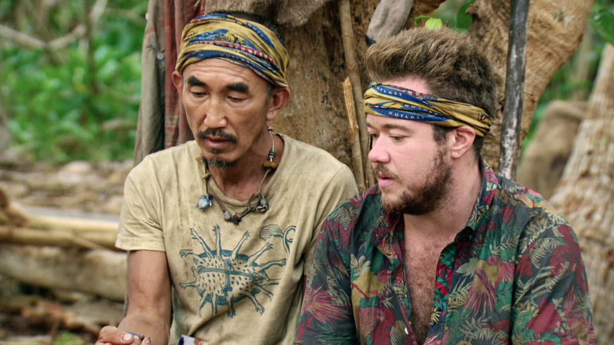 """""""Reinventing How This Game Is Played"""" - Tai Trang and Zeke Smith on the eleventh episode of SURVIVOR: Game Changers, airing Wednesday, May 3 (8:00-9:00 PM, ET/PT) on the CBS Television Network. Photo: Screen Grab/CBS Entertainment ©2017 CBS Broadcasting, Inc. All Rights Reserved."""