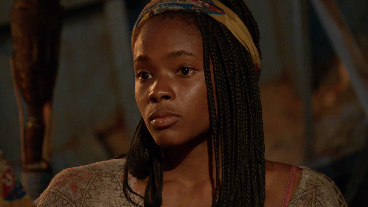 """""""Reinventing How This Game Is Played"""" - Michaela Bradshaw at Tribal Council on the eleventh episode of SURVIVOR: Game Changers, airing Wednesday, May 3 (8:00-9:00 PM, ET/PT) on the CBS Television Network. Photo: Screen Grab/CBS Entertainment ©2017 CBS Broadcasting, Inc. All Rights Reserved."""