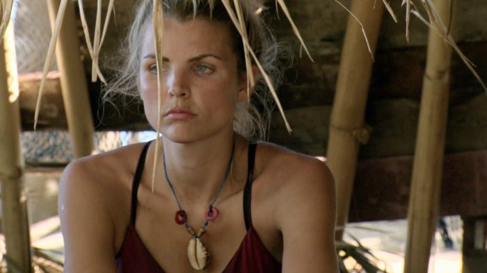 """Parting Is Such Sweet Sorrow"" - Andrea Boehlke on the thirteenth episode of SURVIVOR: Game Changers, airing Wednesday, May 17 (8:00-9:00 PM, ET/PT) on the CBS Television Network. Photo: Screen Grab/CBS Entertainment ©2017 CBS Broadcasting, Inc. All Rights Reserved."