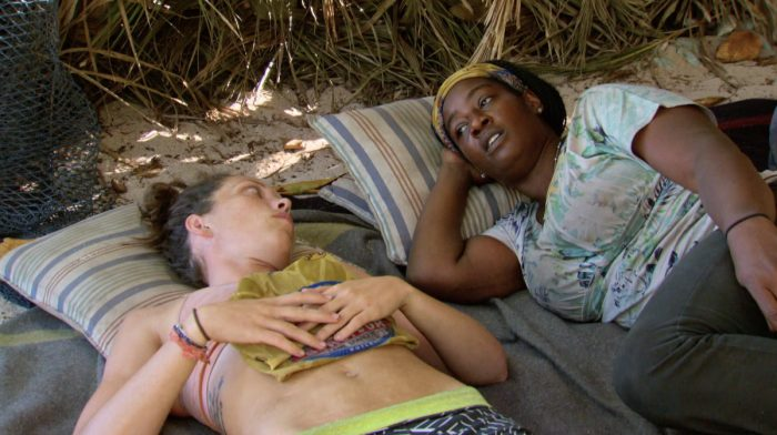 """Parting Is Such Sweet Sorrow"" - Sarah Lacina and Cirie Fields on the thirteenth episode of SURVIVOR: Game Changers, airing Wednesday, May 17 (8:00-9:00 PM, ET/PT) on the CBS Television Network. Photo: Screen Grab/CBS Entertainment ©2017 CBS Broadcasting, Inc. All Rights Reserved."