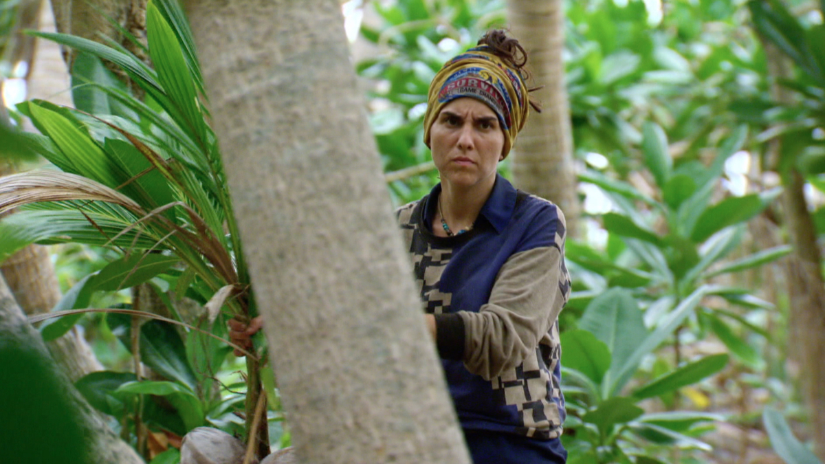 """""""No Good Deed Goes Unpunished"""" - Aubry Bracco on the season finale of SURVIVOR: Game Changers, airing Wednesday, May 24 (8:00-10:00 PM, ET/PT) on the CBS Television Network. Photo: Screen Grab/CBS Entertainment ©2017 CBS Broadcasting, Inc. All Rights Reserved."""