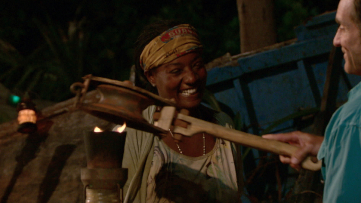"""No Good Deed Goes Unpunished"" - Jeff Probst extinguishes Cirie Fields's torch at Tribal Council on the season finale of SURVIVOR: Game Changers, airing Wednesday, May 24 (8:00-10:00 PM, ET/PT) on the CBS Television Network. Photo: Screen Grab/CBS Entertainment ©2017 CBS Broadcasting, Inc. All Rights Reserved."