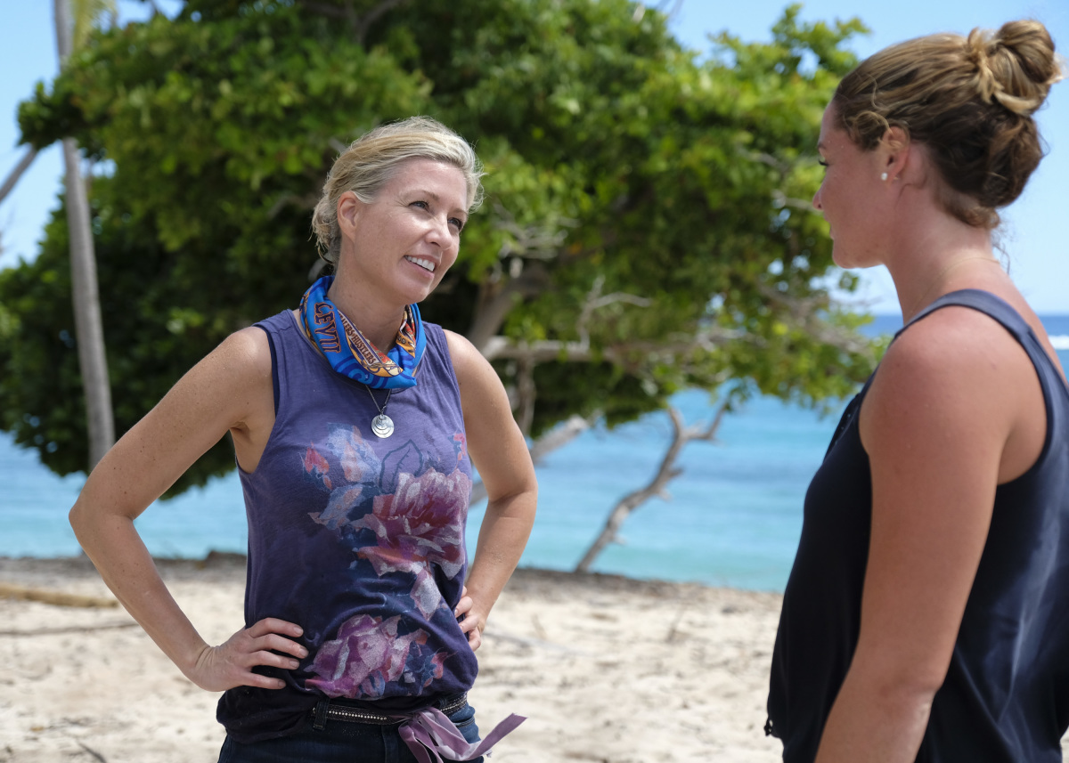 """I'm Not Crazy, I'm Confident"" - Chrissy Hofbeck and Ashley Nolan on SURVIVOR, themed Heroes vs. Healers vs. Hustlers. The Emmy Award-winning series returns for its 35th season premiere on, Wednesday, September 27 (8:00-9:00 PM, ET/PT) on the CBS Television Network. Photo: Timothy Kuratek/©2017 CBS Broadcasting Inc. All Rights Reserved"