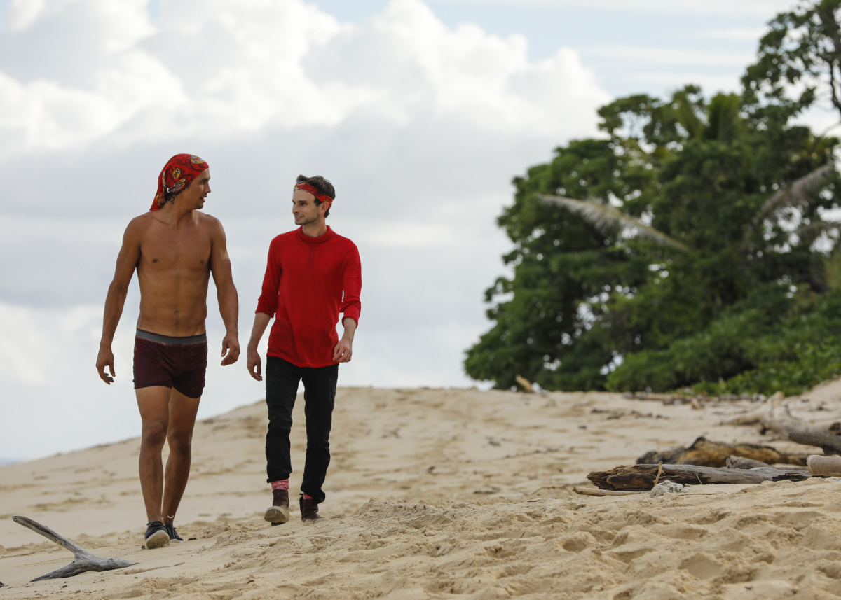 """I'm Not Crazy, I'm Confident"" - Devon Pinto and Ryan Ulrich on SURVIVOR, themed Heroes vs. Healers vs. Hustlers. The Emmy Award-winning series returns for its 35th season premiere on, Wednesday, September 27 (8:00-9:00 PM, ET/PT) on the CBS Television Network. Photo: Robert Voets/©2017 CBS Broadcasting Inc. All Rights Reserved"