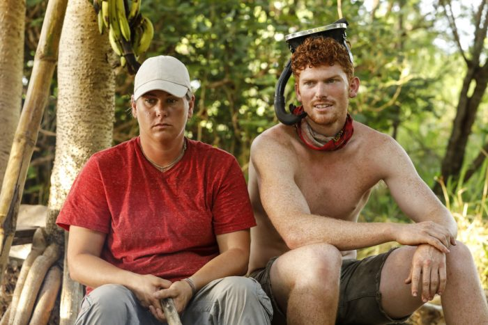 """""""My Kisses Are Very Private"""" - Lauren Rimmer and Patrick Bolton on the third episode of SURVIVOR 35, themed Heroes vs. Healers vs. Hustlers, airing Wednesday, October 11 (8:00-9:00 PM, ET/PT) on the CBS Television Network. Photo: Robert Voets/CBS ©2017 CBS Broadcasting Inc. All Rights Reserved"""