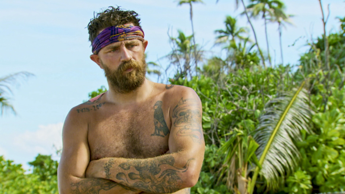 """Playing with the Devil"" - Ben Driebergen on the eighth episode of SURVIVOR 35, themed Heroes vs. Healers vs. Hustlers, airing Wednesday, November 15 (8:00-9:00 PM, ET/PT) on the CBS Television Network. Photo: Screen GrabCBS ©2017 CBS Broadcasting Inc. All Rights Reserved."