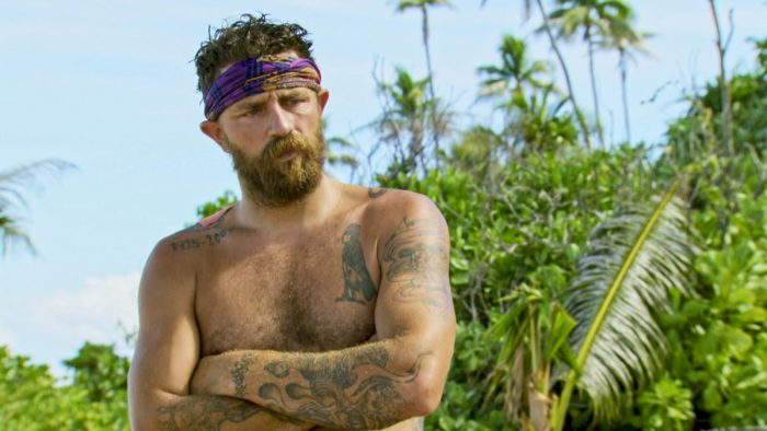 """""""Playing with the Devil"""" - Ben Driebergen on the eighth episode of SURVIVOR 35, themed Heroes vs. Healers vs. Hustlers, airing Wednesday, November 15 (8:00-9:00 PM, ET/PT) on the CBS Television Network. Photo: Screen GrabCBS ©2017 CBS Broadcasting Inc. All Rights Reserved."""