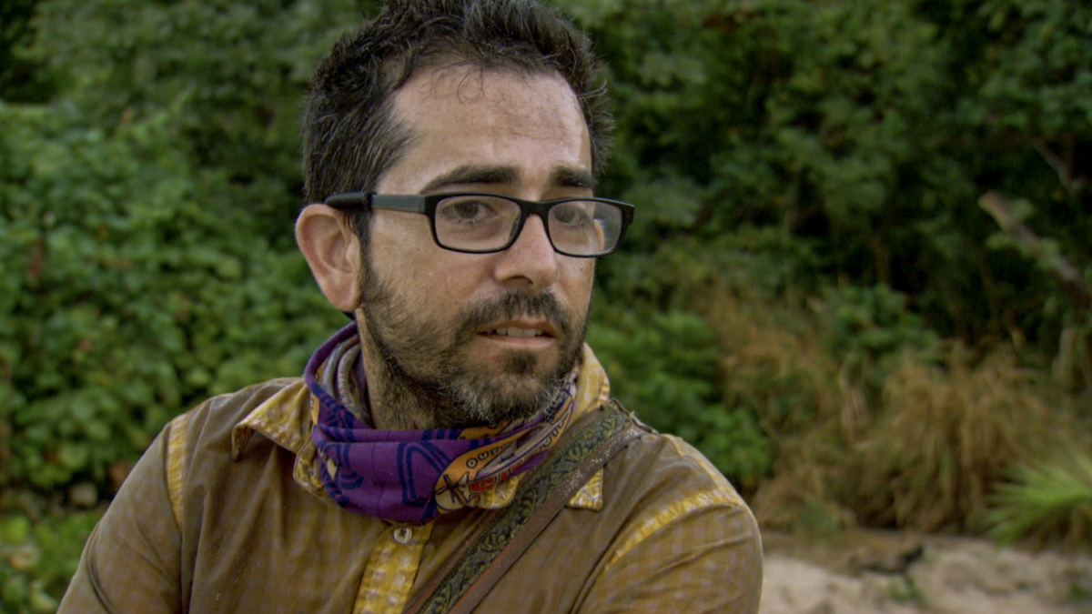 """""""Fear of the Unknown"""" - Mike Zahalsky on the ninth episode of SURVIVOR 35, themed Heroes vs. Healers vs. Hustlers, airing Wednesday, November 22 (8:00-9:00 PM, ET/PT) on the CBS Television Network. Photo: Screen Grab/CBS ©2017 CBS Broadcasting Inc. All Rights Reserved"""