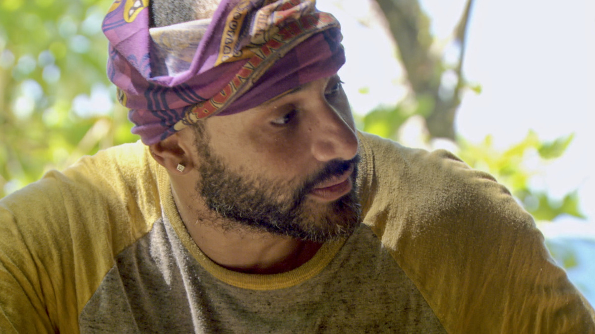 """""""Fear of the Unknown"""" - Joe Mena on the ninth episode of SURVIVOR 35, themed Heroes vs. Healers vs. Hustlers, airing Wednesday, November 22 (8:00-9:00 PM, ET/PT) on the CBS Television Network. Photo: Screen Grab/CBS ©2017 CBS Broadcasting Inc. All Rights Reserved"""