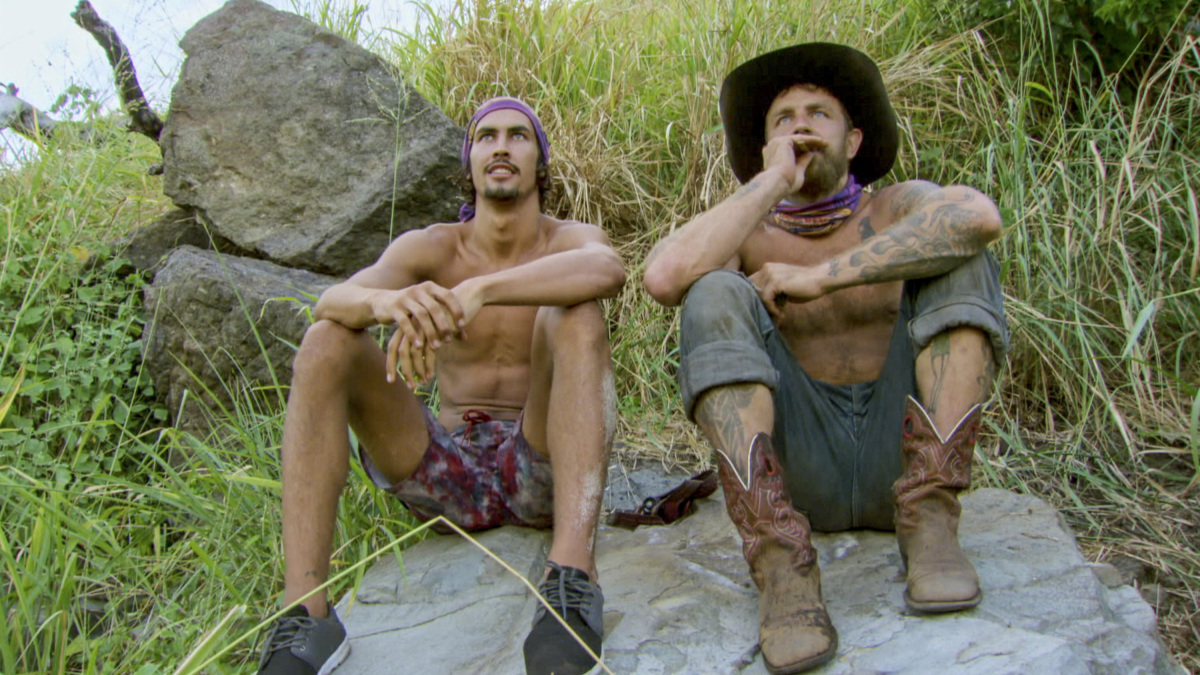 """""""Fear of the Unknown"""" - Devon Pinto and Ben Driebergen on the ninth episode of SURVIVOR 35, themed Heroes vs. Healers vs. Hustlers, airing Wednesday, November 22 (8:00-9:00 PM, ET/PT) on the CBS Television Network. Photo: Screen Grab/CBS ©2017 CBS Broadcasting Inc. All Rights Reserved"""