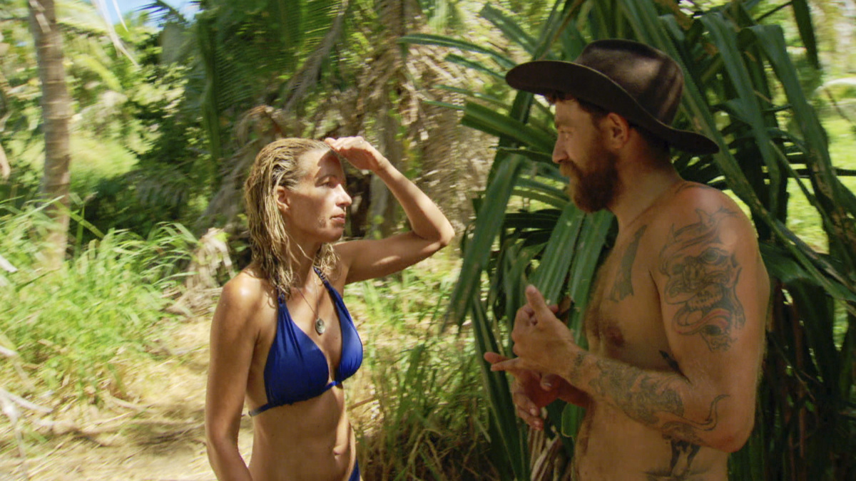 """""""Not Going To Roll Over And Die"""" - Chrissy Hofbeck and Ben Driebergen on the twelfth episode of SURVIVOR 35, themed Heroes vs. Healers vs. Hustlers, airing Wednesday, December 6 (8:00-9:00 PM, ET/PT) on the CBS Television Network. Photo: Screen Grab/CBS ©2017 CBS Broadcasting Inc. All Rights Reserved"""