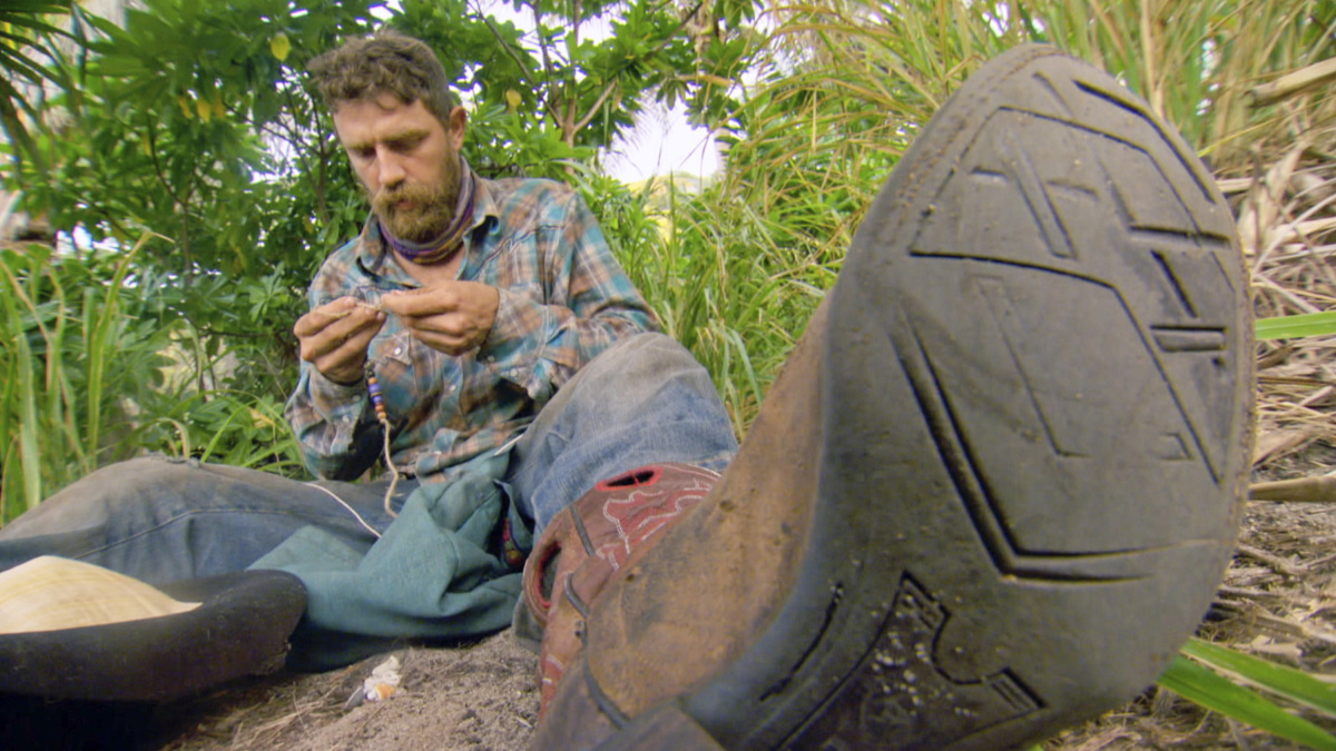 """Not Going To Roll Over And Die"" - Ben Driebergen on the twelfth episode of SURVIVOR 35, themed Heroes vs. Healers vs. Hustlers, airing Wednesday, December 6 (8:00-9:00 PM, ET/PT) on the CBS Television Network. Photo: Screen Grab/CBS ©2017 CBS Broadcasting Inc. All Rights Reserved"