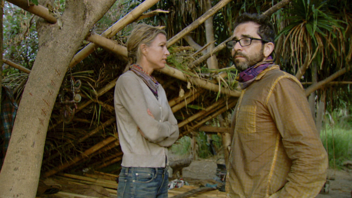 """The Survivor Devil"" - Chrissy Hofbeck and Mike Zahalsky on the thirteenth episode of SURVIVOR 35, themed Heroes vs. Healers vs. Hustlers, airing Wednesday, December 13 (8:00-9:00 PM, ET/PT) on the CBS Television Network. Photo: Screen Grab/CBS ©2017 CBS Broadcasting Inc. All Rights Reserved."