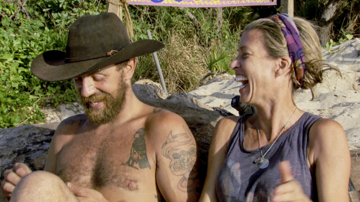 """""""Million Dollar Night"""" - Ben Driebergen and Chrissy Hofbeck on the finale of SURVIVOR 35, themed Heroes vs. Healers vs. Hustlers, airing Wednesday, December 20 (8:00-10:00 PM, ET/PT) on the CBS Television Network. Photo: Screen Grab/CBS ©2017 CBS Broadcasting Inc. All Rights Reserved."""