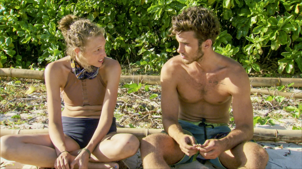 """The Finish Line Is In Sight"" - Kellyn Bechtold and Michael Yerger on the eleventh episode of Survivor: Ghost Island, airing Wednesday, May 2 (8:00-9:01 PM, ET/PT) on the CBS Television Network. Photo: Screen Grab/CBS Entertainment ©2018 CBS Broadcasting, Inc. All Rights Reserved."