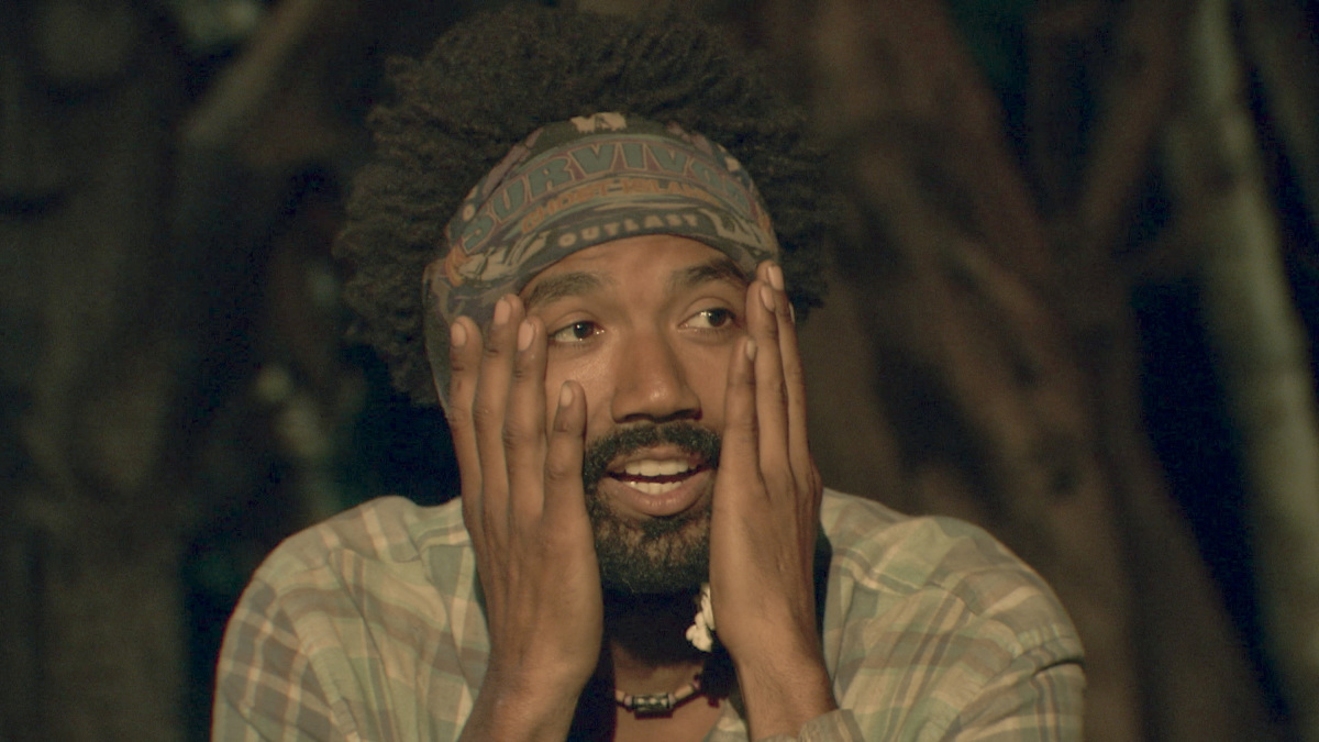 """""""It Is Game Time Kids"""" - Wendell Holland at Tribal Council on the fourteenth episode of Survivor: Ghost Island, which is a two-hour season finale airing Wednesday, May 23 (8:00-11:00 PM, ET/PT) on the CBS Television Network. Photo: Screen Grab/CBS Entertainment ©2018 CBS Broadcasting, Inc. All Rights Reserved."""