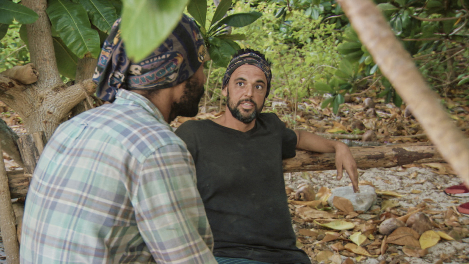 """""""It Is Game Time Kids"""" - Wendell Holland and Domenick Abbate on the fourteenth episode of Survivor: Ghost Island, which is a two-hour season finale airing Wednesday, May 23 (8:00-11:00 PM, ET/PT) on the CBS Television Network. Photo: Screen Grab/CBS Entertainment �©2018 CBS Broadcasting, Inc. All Rights Reserved."""