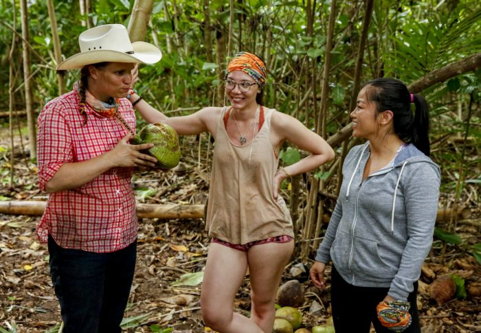 """Appearances Are Deceiving"" - Elizabeth Olsen, Gabby Pascuzzi and Bi Nguyen compete on SURVIVOR when the Emmy Award-winning series returns for its 37th season, themed David vs. Goliath, with a special 90-minute premiere, Wednesday, Sept. 26 (8:00-9:30 PM, ET/PT) on the CBS Television Network. Photo: Robert Voets/CBS Entertainment ©2018 CBS Broadcasting, Inc. All Rights Reserved."
