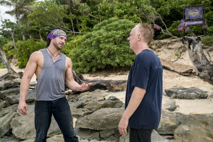 """Appearances Are Deceiving"" - John Hennigan and Mike White compete on SURVIVOR when the Emmy Award-winning series returns for its 37th season, themed David vs. Goliath, with a special 90-minute premiere, Wednesday, Sept. 26 (8:00-9:30 PM, ET/PT) on the CBS Television Network. Photo: David M. Russell/CBS Entertainment ©2018 CBS Broadcasting, Inc. All Rights Reserved."