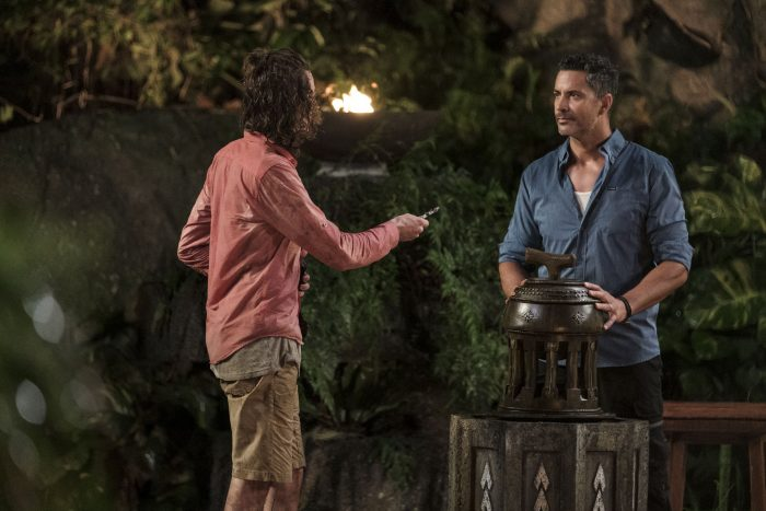 Jacques playing his Hidden Immunity Idol